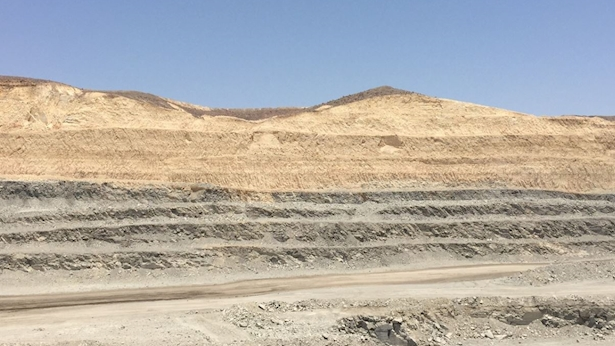 """מכרה רא""""מ במישור רותם, צילום: יח""""צ"""