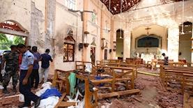 פיצוץ בכנסיה בסרי לנקה, צילום: Getty Images, Stringer