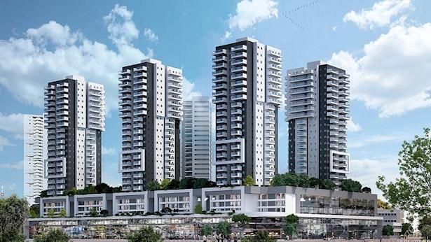 הדמיה תכנית מתחם לב אשדוד, צילום: משרד חיים ורדה אדריכלים