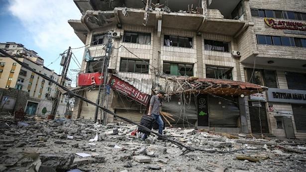 מתקפה ישראלית בעזה, צילום: gettyimages, Anadolu Agency