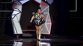 נטע ברזילי במהלך חצי הגמר הראשון של אירוויזיון 2019 בתל אביב, צילום: אורית פניני
