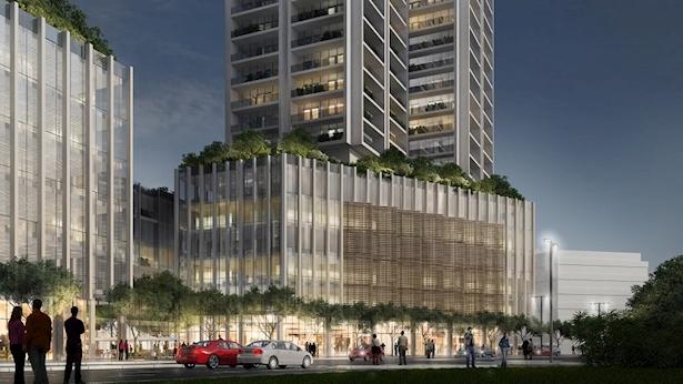 הדמיית תכנית משולש הבורסה ברמת גן, צילום: ישר אדריכלים ודירה להשכיר