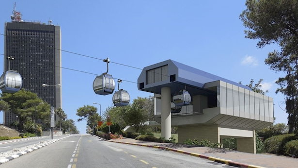הרכבלית בחיפה, צילום: משרד התחבורה