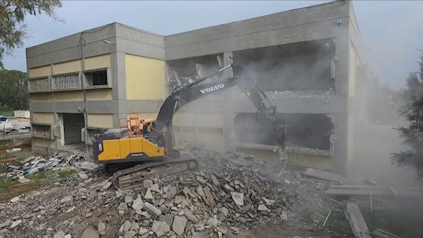 פינוי בסיס הדרכה בצריפין, צילום: אגף ההנדסה והבינוי במשרד הביטחון