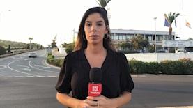 חן זנדר, כתבת חדשות 13, במהלך סיקור פרשת האונס בקפריסין, צילום: מסך: חדשות 13