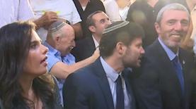 הרב רפי פרץ, בצלאל סמוטריץ' ואיילת שקד, צילום: מסך: חדשות 12