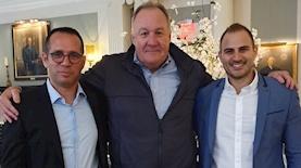 איתמר חושן, לארי וובר והדן אורנשטיין, צילום: יחצ