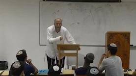 שיעור של הרב אסף נאומבורג, צילום: מסך: כאן 11