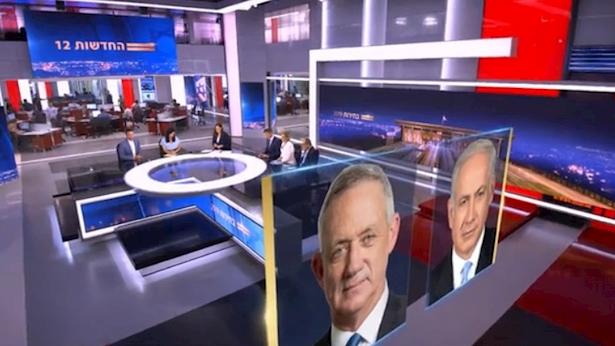 מהדורת חדשות 12 אחרי הבחירות, צילום: מסך: קשת 12