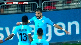 מונאס דאבור ונבחרת ישראל, צילום: מסך: כאן 11