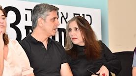 יוליה שמאלוב ברקוביץ ואבי וייס בכנס אילת לעיתונות, צילום: אודי פורטל