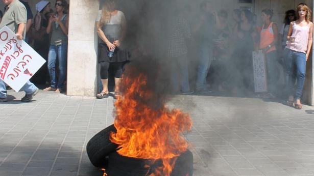 הפגנה, צילום: אלכסנדר כץ