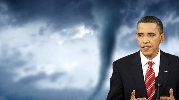 אובמה בעין הסערה, צילום: Getty images Israel