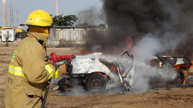 כיבוי אש, צילום: דוברות חברת חשמל