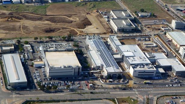 """מפעל HP בקריית גת, צילום: יח""""צ"""