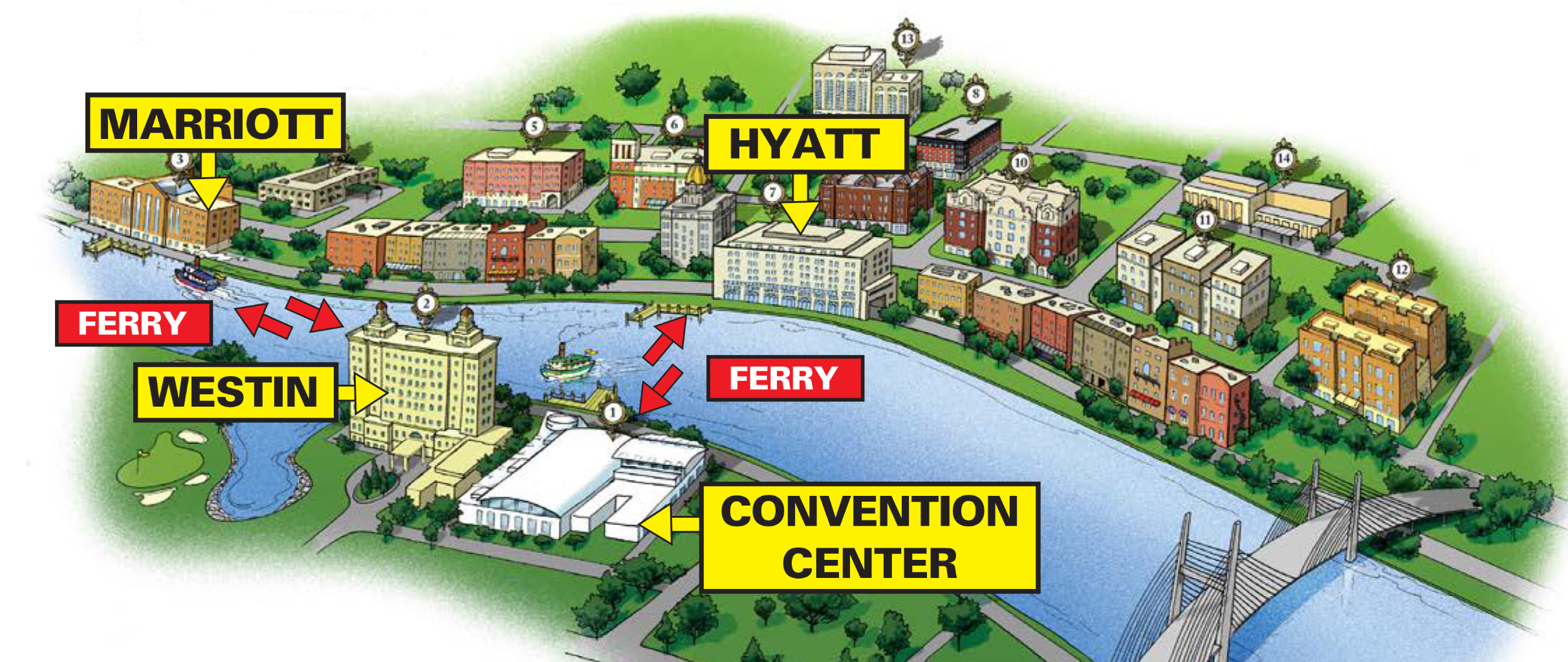 Ferry Map
