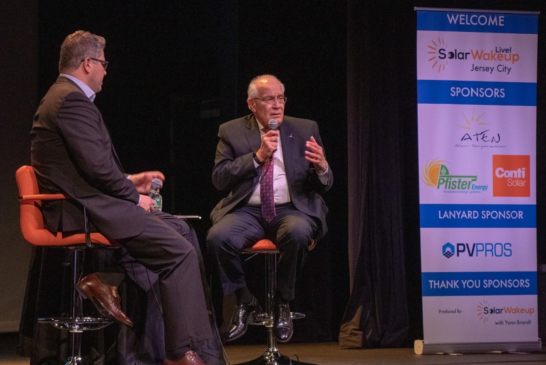 Yann interviewing NJ PUC Chairman Joseph Fiordaliso