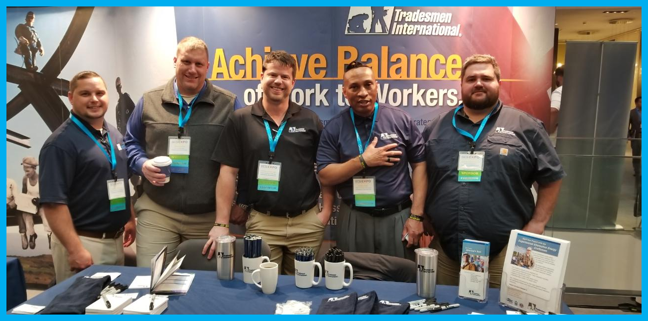 Tradesmen International booth at the MWSE19