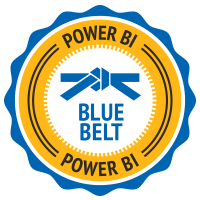 Power BI Blue Belt Badge