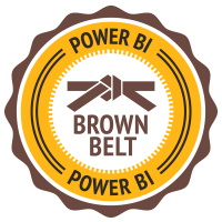 Power BI Brown Belt Badge