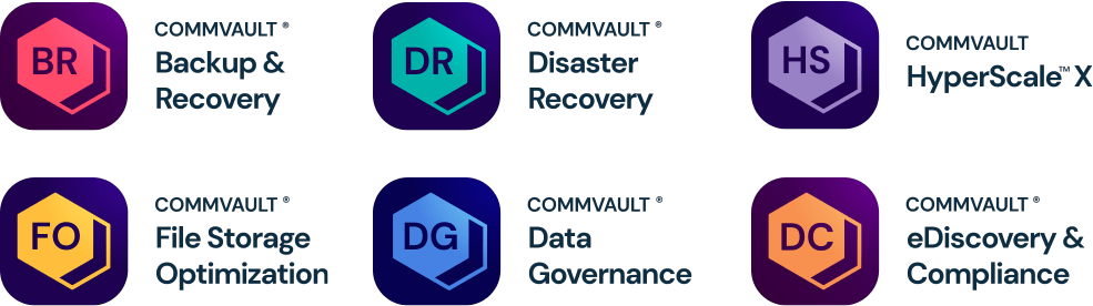 Commvault data protection portfolio