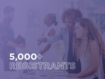 5,000+ registrants