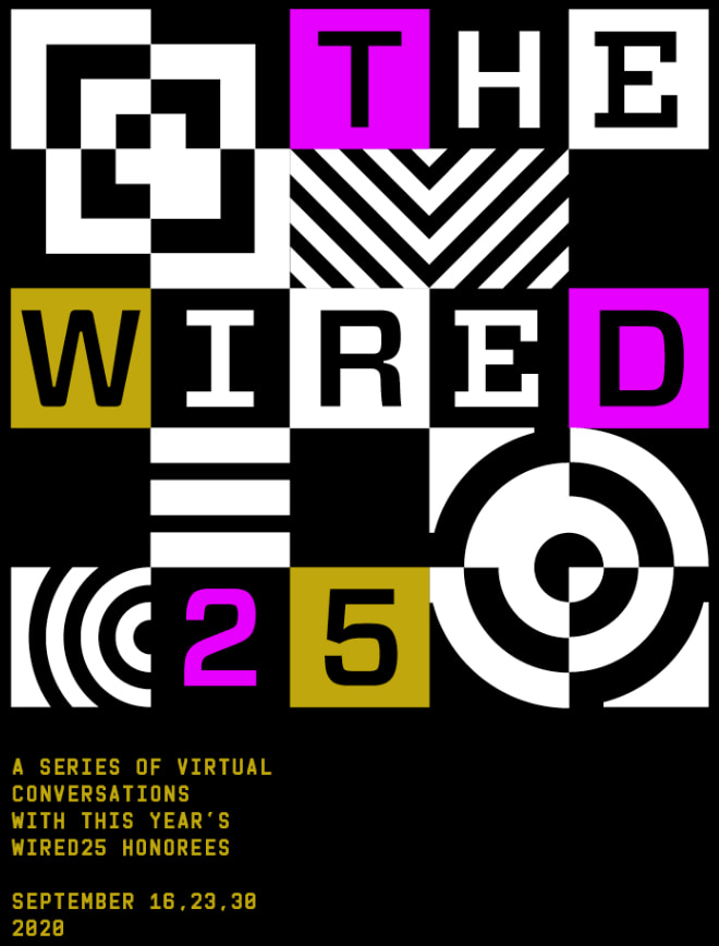 Boxes forming The WIRED25 logo