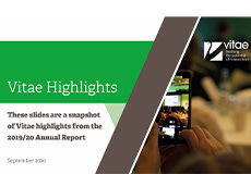 Vitae Annual Report 2019-2020 - read how Vitae supports researchers, research developers and institutions