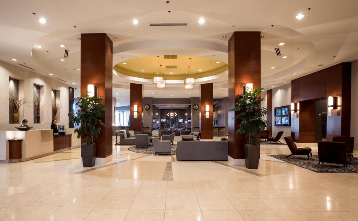 Lobby of Raleigh Marriott City Center