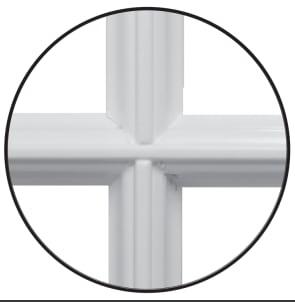 Type 1 er fast tre sprosse som ligger på utsiden av glasset