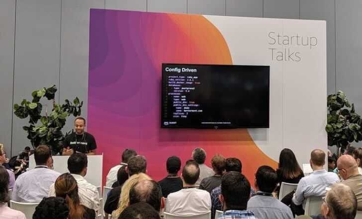 Devin Burnette, Lead Site Reliability Engineer at Betterment, speaking at AWS Summit in NYC