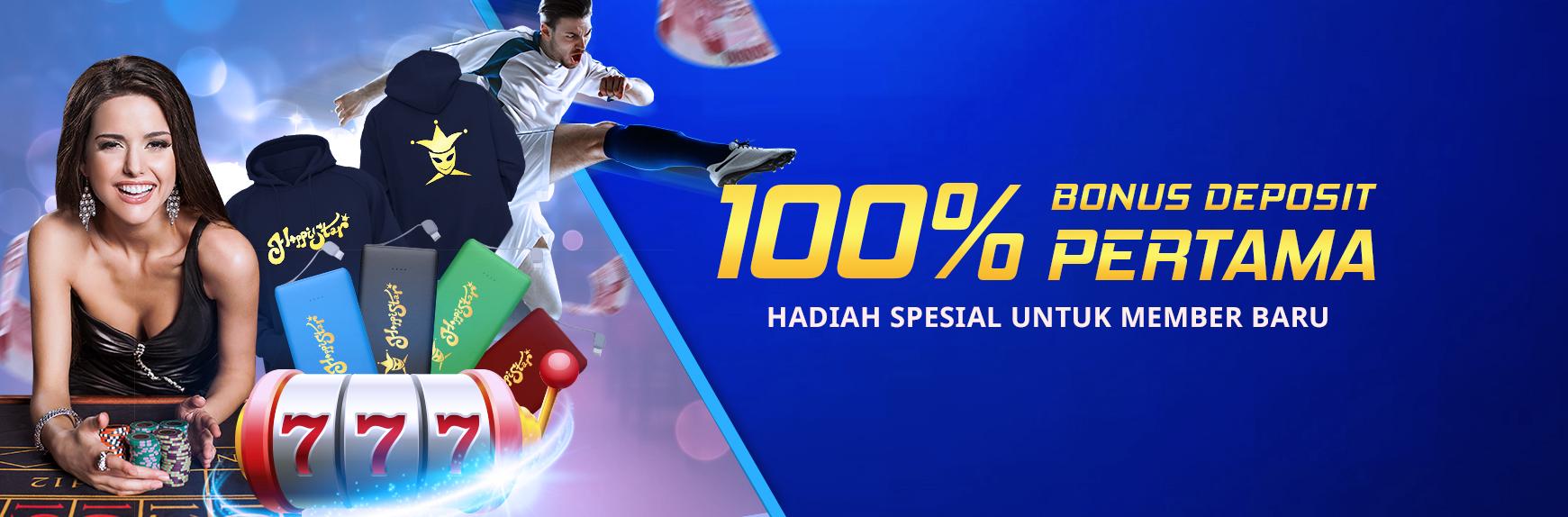 100% Bonus Deposit Pertama di HappiStar88 MB-600-100_FirstDepositBonus-IND-1741x574