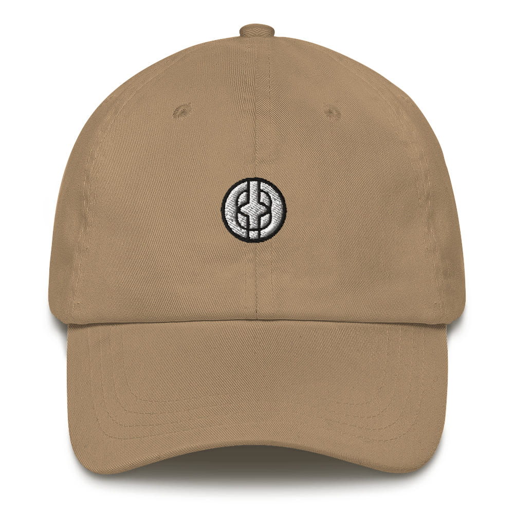 Black Knowledge Symbol Light Colored Dad hat