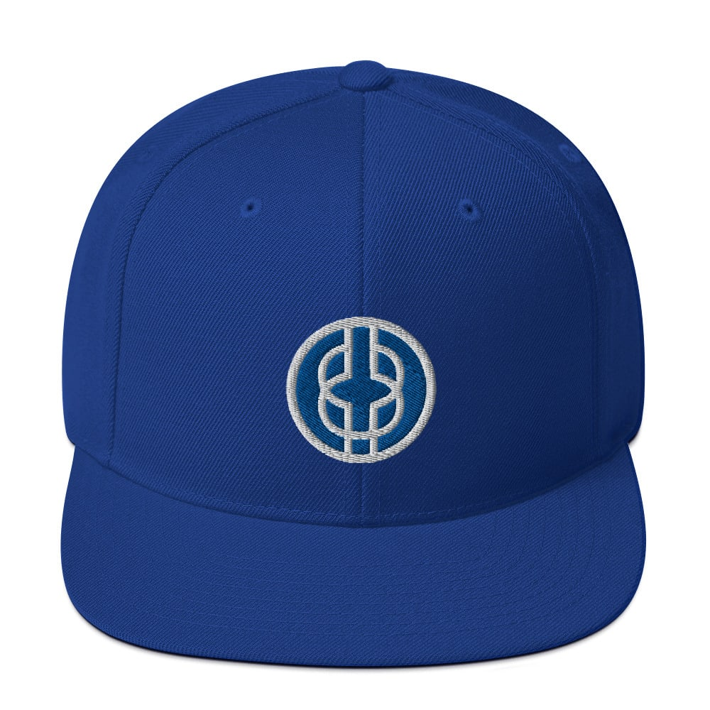 Black Knowledge Symbol Blue Snapback Hat