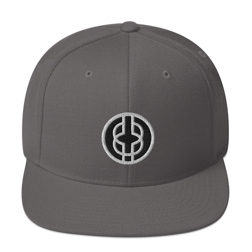 Black Knowledge Symbol Dark Colored Snapback Hat