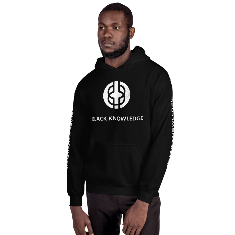 Black Knowledge Logo Hoodie