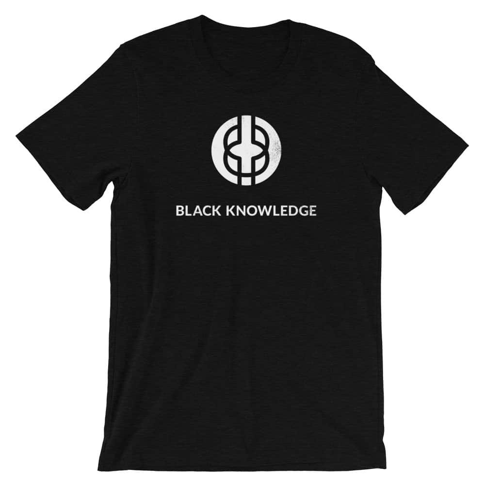 Black Knowledge Logo Tee