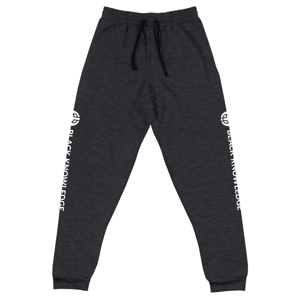 Black Knowledge Logo Joggers