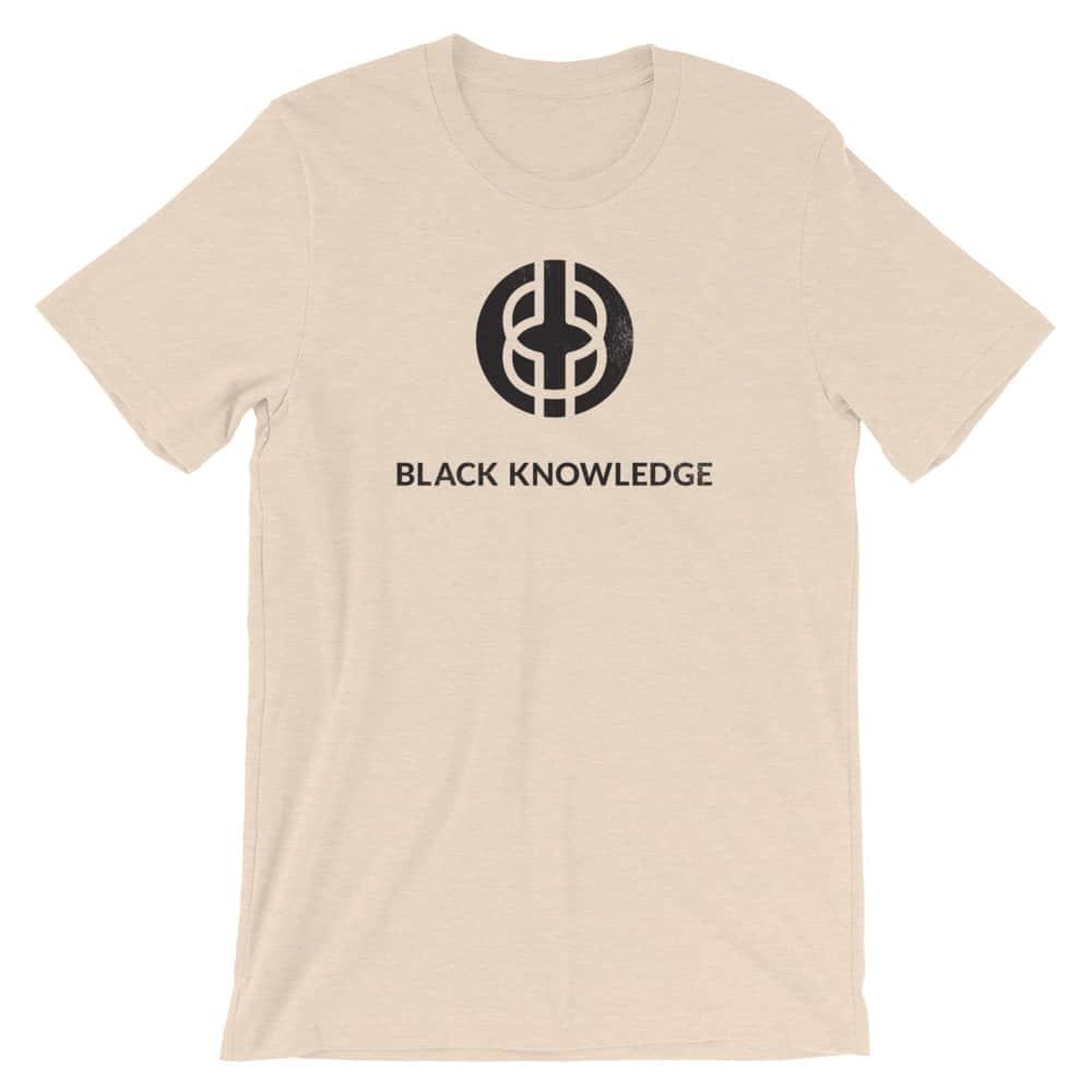 Black Knowledge Logo Tee