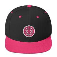 Black Knowledge Symbol Pink Snapback Hat