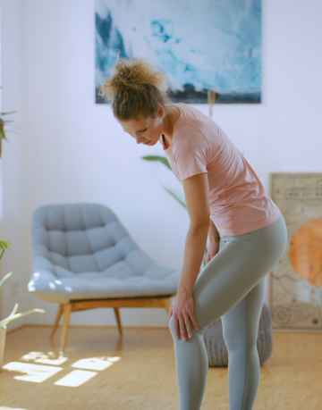 Pijn oefeningsroutine in de runner's knee