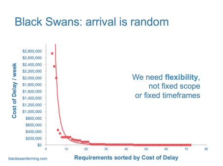The random arrival of Black Swans