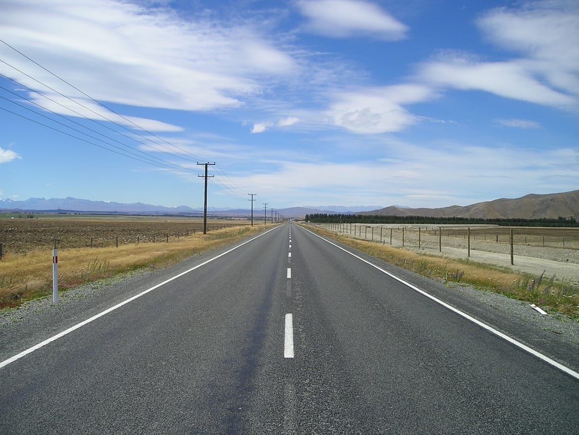 road stretching off into the distance
