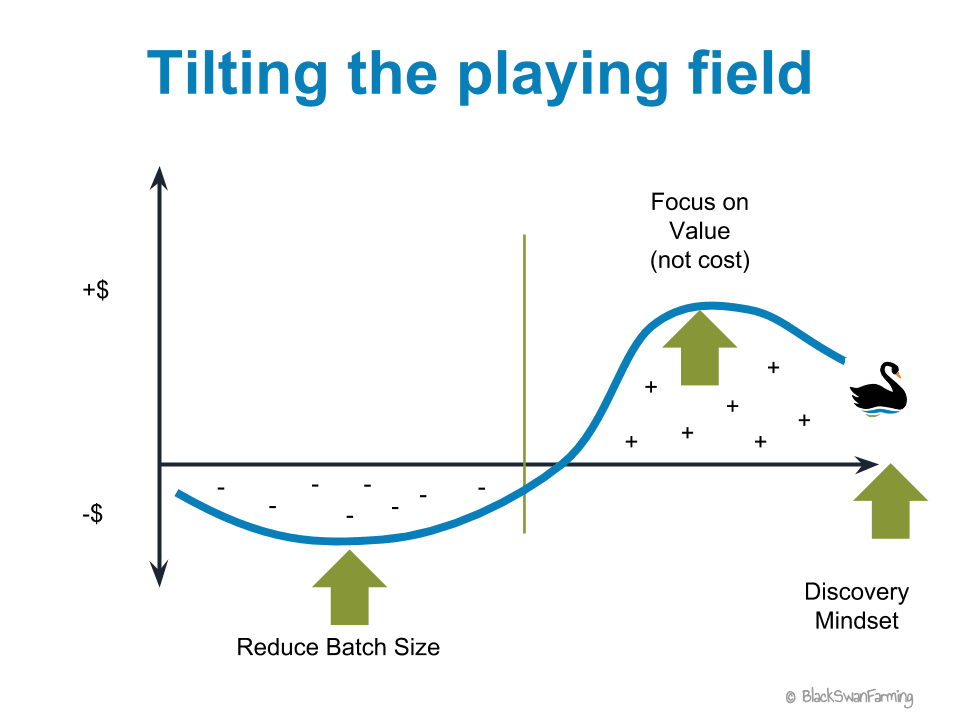 Asymmetric payoff – Tilted playing field – Black Swan Farming
