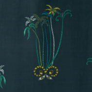 Jungle Palms Fabric Velvet