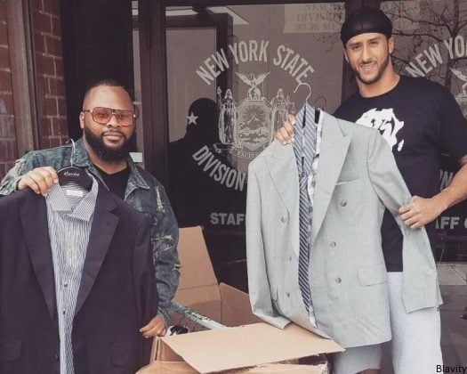 Image result for kaepernick donates suits
