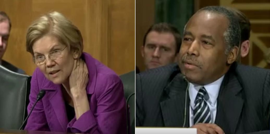 Sen Elizabeth Warren Says Forget That Furniture Ben Carson S