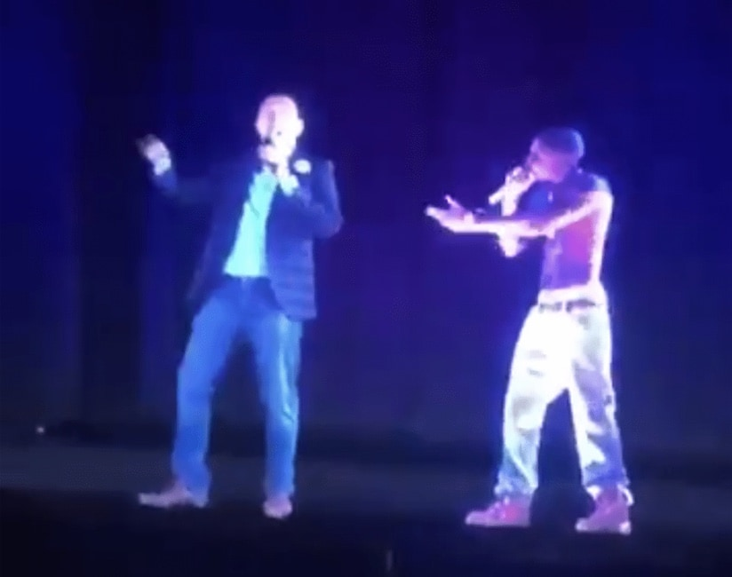 Presidential Candidate Andrew Yang Uses Tupac Hologram To Showcase