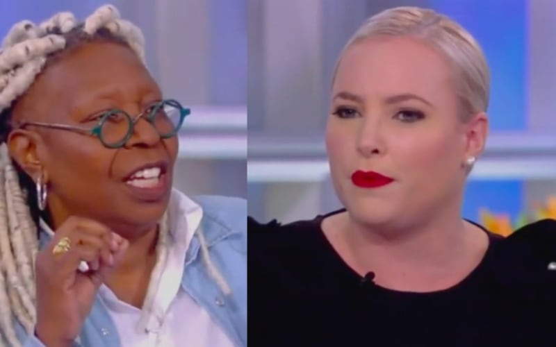 Whoopi Goldberg cuts to break after discussion on The View gets heated.
