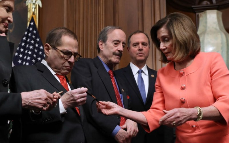 """Image result for PELOSI WITH the signed gold pens"""""""